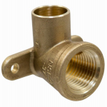B&K A 61508NL Pipe Fitting, Drop Ear Elbow, 90 Degree, Cast Copper, 1/2-In.