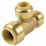 B&K 632-433HC Push-On Tee With Pex Insert, 3/4 x 1/2 x 1/2-Inch Brass