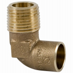Elkhart Products 10156842 1/2-Inch Male Pipe Thread Cast Copper Elbow