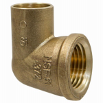 B&K A 61507NL 1/2-Inch Female Pipe Thread Cast Copper Elbow