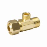 B&K 993-015NL Brass Supply Stop Extender Tee, 3/8-In. Female Compression x 3/8-In. Male Compression x 1/4-In. Male Compression