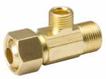 B&K 993-016NL Brass Supply Stop Extender Tee, 3/8-In. Female Compression x 3/8-In. Male Compression x 3/8-In. Female Compression
