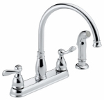 Delta Faucet 21996-LF Windemere Series Chrome 2 Handle Kitchen Faucet