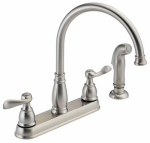 Delta Faucet 21996LF-SS Windemere Series Stainless Steel 2 Handle Kitchen Faucet