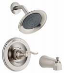 Delta Faucet 144996-BN Windemere Single-Handle Tub/Shower Faucet + Showerhead,  Brushed Nickel