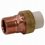 Genova Products 53376Z Pipe Fittings, Transition Union, 3/4 CPVC Slip x Brass MIP