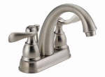 Delta Faucet 25996LF-BN-ECO Windemere Lavatory Faucet, 2-Handle, Centerset, Brushed Nickel