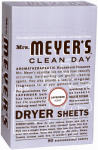 S C Johnson Wax 14148 80-Count Clean Day Lavender Scent Dryer Sheets