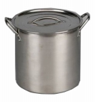 Bradshaw International 06181 Stock Pot, Brushed Stainless Steel, 12-Qts.