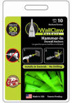 Wallclaw Anchors PCK-WC10-YS Hammer-In Drywall Anchors, 10-Pk.