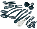 Lifetime Brands KC448BXOBA Tool & Gadget Set, Black, 17-Pc.