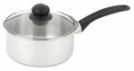 Bradshaw International 06006 Saucepan, With Lid, Stainless Steel, 2-Qts.