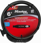 Master Lock 8220D 6-Ft. x 3/8-Inch Flexible Braided 10MM Steel Cable Lock