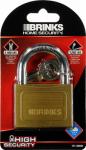 Hampton Prod Intl 171-60001 2-3/8 Inch Solid-Brass Pin Tumbler Padlock