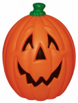 General Foam Plastics H7007TS Halloween Pumpkin, Lighted, Orange Plastic, 23-In.