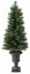 Equinox 2 CPWB1-8417-40N4 Pre-Lit Artificial Christmas Tree For Porch, Westbrook, 70 Clear Lights, 4-Ft.