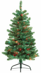 Equinox 2 PDT-123-40 Pre-Lit Artificial Christmas Tree, Piedmont Fir, 100 Multi-Color Lights, 4-Ft.