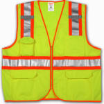 Tingley Rubber V73852.L-XL LG/XL Lime Safety Vest
