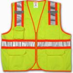 Tingley Rubber V73852.4X-5X 4X-5X Lim/YEL Safe Vest