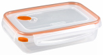 Sterilite 03211106 Ultra-Seal Food Container, Rectangle, Clear/Tangerine, 5.8-Cups