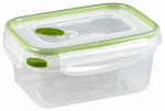 Sterilite 03121606 Ultra-Seal Food Container, Rectangle, Clear/Tangerine, 4.5-Cups