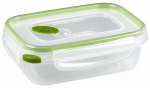 Sterilite 03111606 Ultra-Seal Food Container, Rectangle, Clear/Tangerine, 3.1-Cups