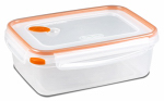 Sterilite 03221106 Ultra-Seal Food Container, Rectangle, Clear/Tangerine, 8.3-Cups