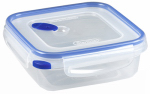 Sterilite 03314706 Ultra-Seal Food Container, Square, Clear/Blue, 4-Cups