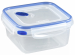 Sterilite 03324706 Ultra-Seal Food Container, Square, Clear/Blue, 5.7-Cups