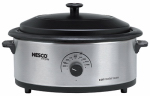Metalware/Nesco 4816-25PRG Roaster Oven With Glass Cover, Stainless Steel, 6-Qt.
