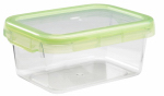 Oxo International 1124580 Food Storage Container, Rectangle, Green, 3.8-Cups