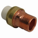 Genova Products 53374Z Pipe Fittings, 1/2-In. Transition Union, CPVC Slip x Brass MIP