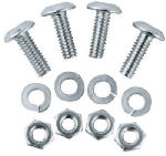 Custom Accessories 93367 License Plate Fastener, Stainless Steel, 4-Pk.