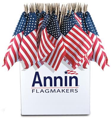 Annin Flagmakers 41294 U.S. Handheld Flag, 8 x 12-In. - Quan