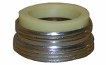 Larsen Supply 09-1631NL Aerator Adapter Fits Kohler & Central, Chrome-Plated, 13/16 x 27 Male Thread x 55/64-In. x 27 Male Thread