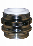 Larsen Supply 09-1451NL Garden Hose Aerator Adapter, 55/64-In. x 27 x 15/16-In. x 27 x 3/4-In. Male