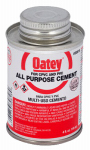 Oatey 30818 All-Purpose Solvent Cement, Clear, 4-oz.