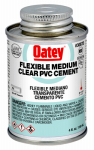 Oatey 30875 PVC Pipe Cement, Clear, 4-oz.