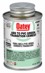 Oatey 30900TV 4OZ GRN ABS/PVC Cement