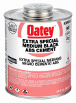 Oatey 30919 ABS Pipe Cement, Black, 32-oz.