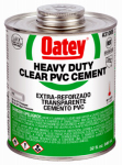 Oatey 31008 32-oz. Clear Heavy-Bodied PVC Pipe Cement