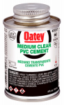 Oatey 31017 4-oz. Clear Medium-Bodied PVC Pipe Cement