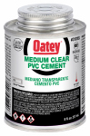Oatey 31018 8-oz. Clear Medium-Bodied PVC Pipe Cement