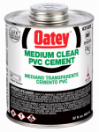 Oatey 31020 PVC Pipe Cement, Clear, 32-oz.