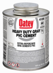 Oatey 31095 PVC Pipe Cement, Heavy-Bodied, Gray, 16-oz.