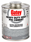 Oatey 31105 PVC Pipe Cement, Heavy-Bodied, Gray, 32-oz.