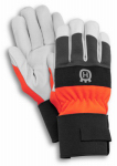 Husqvarna Forest & Garden 579379910 Work Gloves, Leather Palm, High Visibility Colors, 1-Size