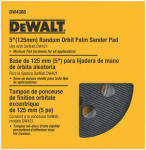 Dewalt Accessories DW4388 5-Inch 8-Hole Medium Hook-and-Loop Sanding Pad