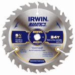 Irwin Industrial Tool 14017 5-3/8-Inch 24TPI Framing/Ripping Carbide Circular Saw Blade