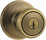 Kwikset 400T 5 SMT 6AL RCS Antique Brass Tylo Entry Lockset